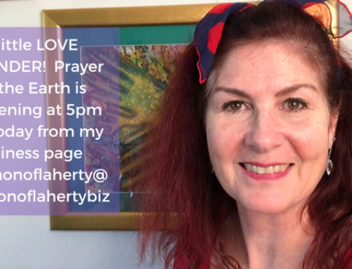 A LOVE REMINDER about the Prayer for the Earth tonight at 5pm EST and 9 pm UK time.